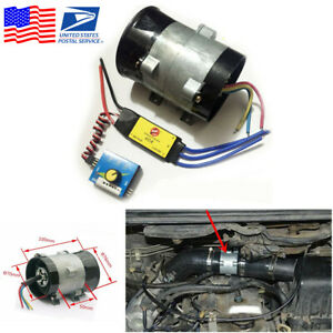 12v 16 5a Car Electric Turbine Turbo Fan Turbo Charger Tan Boost Intake Fans Esc