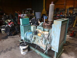 John Deere 45 Kw Genset Generator Runs Mint Turbo Diesel 4276t 3ph 480 277
