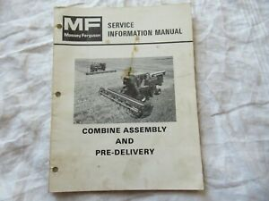 Massey Ferguson 850 860 540 550 Combine Service Information Manual