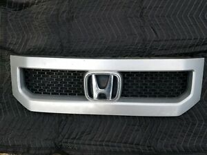 2010 2011 10 11 Honda Element Front Upper Grille Grill Silver And Black Oem