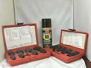 Standard And Metric Thread Chasers With Jb80 Lubricant Spray Bundle