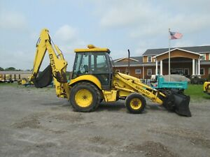 New Holland 655e Loader Backhoe Used Diesel 4x4 All Glass Cab Heat Outriggers