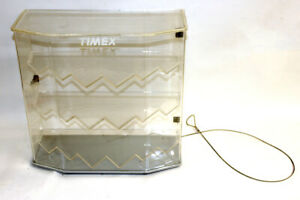 Vintage Timex Retail Display Case W security Cable Lockable 15 x15 x6