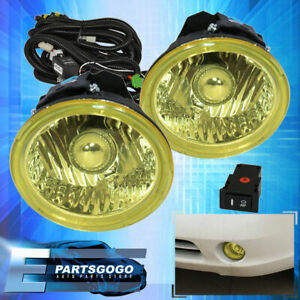 Front Jdm Yellow Driving Bumper Fog Lights switch For 03 05 Infiniti Fx35 Fx45