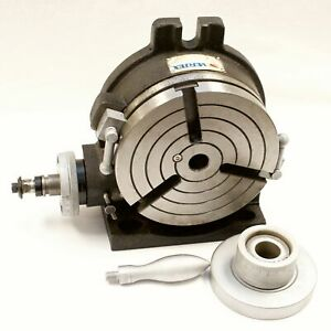 Vertex Hv 6 6 Horizontal Vertical Rotary Table With Face Plate