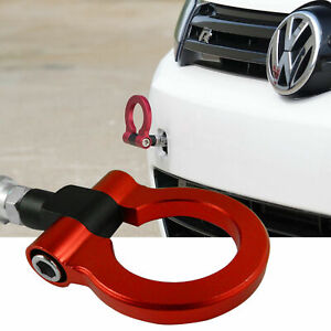 Jdm Red Track Racing Cnc Aluminum Tow Hook For Vw Mk7 Golf Gti 2015 2018