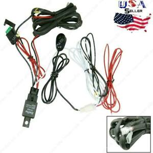 12v 40a Led Work Light Bar Wiring Harness On Off Switch Relay Cable Kit 1 To 2
