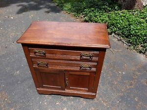 Antique Victorian Oak Wash Stand Small Dresser