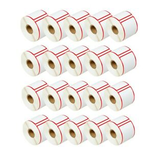 20roll 300 Red Frame Labels Stickers Tags 30344 For Dymo 2 5 16 X4 Eye catcher