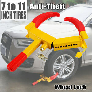 Heavy Duty Anti Theft Wheel Lock Clamp Boot Adjusted Tire Claw Car Rv Towing