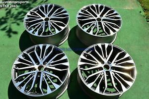 20 Audi A6 Factory Oem Wheels Polished Charcoal Gray S Line 4g0601025be