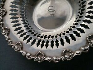 Antique Sterling Silver Candy Dish A Stowell Co