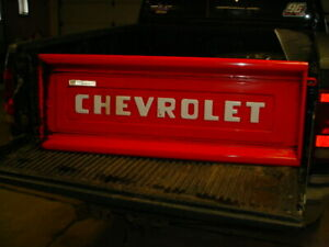 Vintage 57 Chevrolet Truck Tailgate Garage Decor Man Cave Or Use It Red