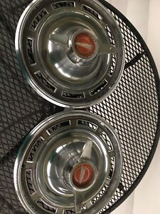 1960 s Buick Skylark Gs Flipper Spinner Hubcap Wheel Cover Antique Classic 2 Set