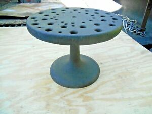 Antique Lathe Collet Holder Cast Iron Base American Watch And Tool Co