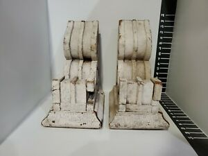 2 Antique Beefy Solid Wood Corbels Size Large Matching