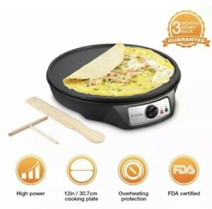 Electric Crepe Maker Isiler 1080w Electric Pancakes Maker Griddle 12 Electric