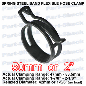 Spring Steel Band Flexible Hose Clamp For 2 Inch 50 Mm Od Hoses 1 Piece