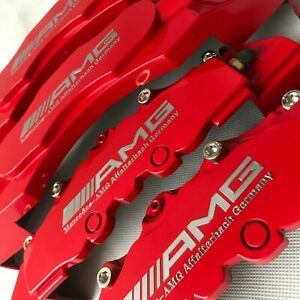 Plastic Red Amg Edition Disc Brake Caliper Cover For Mercedes 4 Pcs