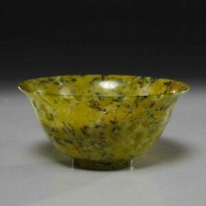 Thaw Collection 19th 20th C Chinese Spinach Green Jade Bowl