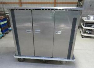 Seco Insulated Food Cabinet Cart Transport Cafeteria Banquet Stainless 3 Door