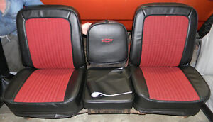 67 68 C10 Chevy Truck Houndstooth Buddy Bucket Seat Covers