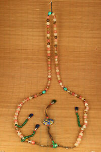 Copy Antique Chinese Qing Dynasty Natural Crystal Minister Court Beads Necklace