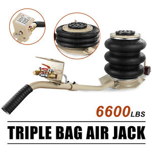 6600lbs 3 Ton Lifts Triple Stage Bag Air Go Jack Frame Alignment Car Truck Shopg