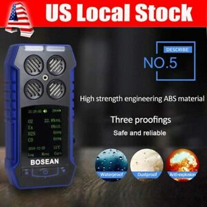 4 In 1 Toxic Gas Alarm Detector Co O2 H2s Ex Oxygen Monitor Gas Analyzer Meter