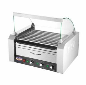 Best Hotdog Griller Roller Machine With Bun Warmer 24 Hot Dogs Grill Commercial