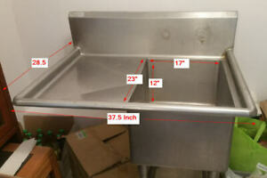 Stainless Steel Restaurant Commercial Sink Freestanding