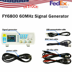 Signal Generator 2ch Dds Arbitrary Waveform Pulse Function Meter Fy6800 60mhz