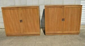Pair Edward Wormley For Drexel Precedent Mid Century Modern Sideboards Cabinets