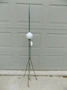 Old Copper Lightning Rod With White Ball Weather Vane 60 4 C