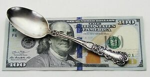 Antique Vintage Signed Gorham Buttercup Sterling Silver Ornate Floral Tea Spoon