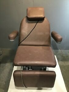 Hill Laboratories Adjustable Power Chair W foot Pedal Medical Healthcare Exam