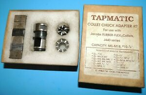 Tapmatic Collet Chuck Adapter 2 Set 28352 With Jacobs Rubber Flex J440 Series