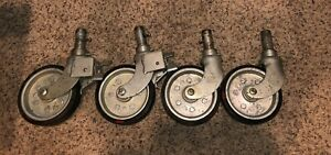 Vintage Noelting Faultless 2400 6 Casters 2 With Brakes Rare