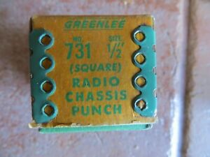 Greenlee Tool Company 731 1 2 Square Radio Chassis Punch