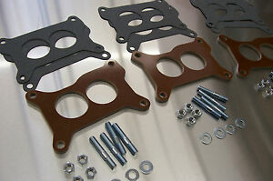 Fits Chevy Six Pack Riser 67 69 Vette Tri Power Holley Phenolic Insulator Spacer