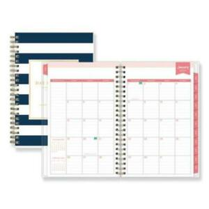 Blue Sky Bls103623 Day Designer Daily monthly Planner 5 X 8 Navy white 2020