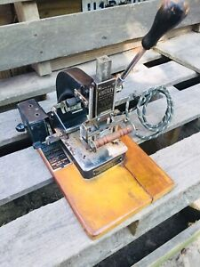 Vintage Kingsley Hot Gold Foil Stamping Machine works
