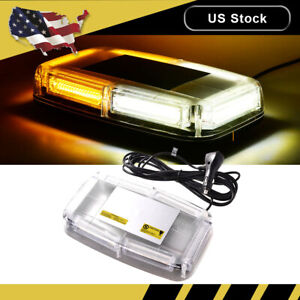 New 6 Cob Led Emergency Flash Warning Rooftop Strobe Light Amber white Car Truck
