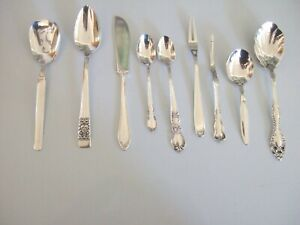 9 Antique Vintage Silverplate Specialty Pieces Mixed Lot Polished