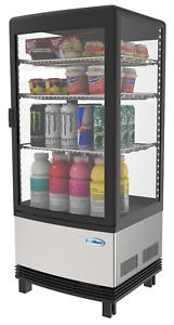 Commercial Countertop Refrigerator Display Case Merchandiser 3 Cu Ft Led