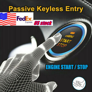 Car Keyless Entry Alarm System Start Stop Push Button Engine Remote Control Usa