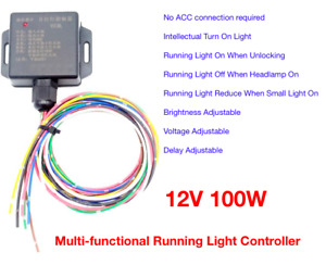 Multi Functional Daytime Running Light Automatic On Off Controller Module Switch