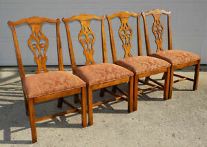 Vintage Henredon Dining Side Chair Carved Chippendale Country French 1 Up To 4