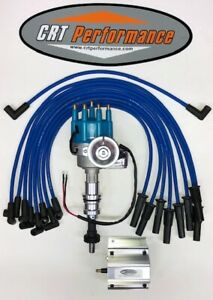 Ford 351c 351m 400 429 460 Small Hei Distributor Blue 60 000v Coil Wires Usa