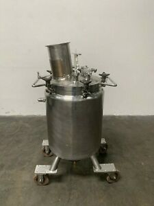 Lee 100 Liter Stainless Steel Jacketed Reactor W Agitator 30 Psi